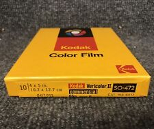 Nos - Kodak Vericolor Ii 2 So-472- Type S Film - 10 sheets 4 x 5 in. # 158 6817