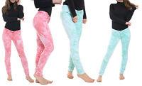 Womens Ladies Tie And Dye Funky Splash Slim Skinny Fit Denim Jeans Size UK 8-14