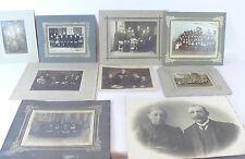 Sehr altes  Gruppenfotos  Konvolut  um 1900 Gruppenfoto   8 Stück