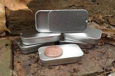 Rectangle Metal Tin Sliding Lid 20ml Camping Stash Lip Balm Geocaching Storage