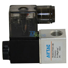 """1/4"""" 2 way 2position AC 110V Pneumatic NPT Electric Solenoid Valve Water Air Oil"""
