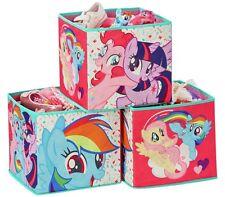 Nuevo Elegante Mi Pequeño Pony Cubos de Caja de almacenamiento-paquete de 3 Para Niños Habitación