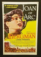 Joan of Arc - Original Movie Poster - r1957 - Bergman -   *Hollywood Posters*