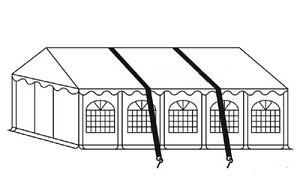 Sturmsicherung für Partyzelt Festzelt verschiedene Ausführungen Erde oder Beton