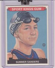 AWESOME 2008 SPORT KINGS SUMMER SANDERS CARD #82 ~ US OLYMPIC SWIMMING LEGEND