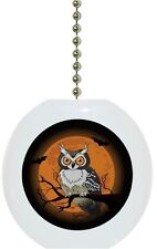 Night Owl Animal Solid CERAMIC Ceiling Fan Light Lamp Pull