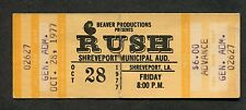 1977 Rush Ufo Max Webster full concert ticket Shreveport La A Farewell to Kings