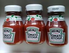 3 pc Mini Glass Bottles Heinz North America Ketchup COLLECTIBLE/SEALED 2.25oz