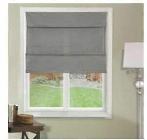 Chicology Daily Grey Light Filtering UV Protection Polyester Roman Shade 35 x 64