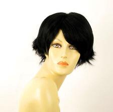 perruque femme 100% cheveux naturel courte noir ref CLARA 1b