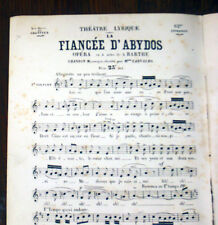 chanson mauresque de La Fiancée d'Abydos opéra de Barthe partition chant 1865