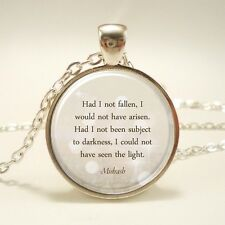 Hebrew Jewelry (1472S1In) Inspirational Quote Necklace, Midrash