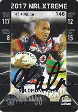 ✺Signed✺ 2017 NEW ZEALAND WARRIORS NRL Card SOLOMONE KATA