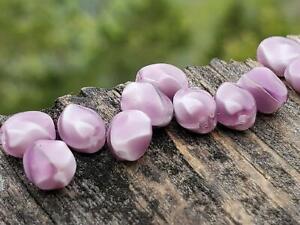Sweet Vintage Purple White Baroque 6mm Glass Beads Beautiful DIY Jewelry Making