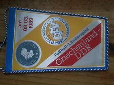 W70 WIMPEL Länderspiel GRIECHENLAND - DDR 2.4.75 Sport Fußball Oberliga DFV DFB