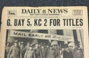Pre- Super Bowl I - AFL / NFL Title Games - Football - 1966 New York Newspaper