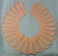 Vintage Pink Hand Crocheted Collar Round Scalloped Edge A Beauty