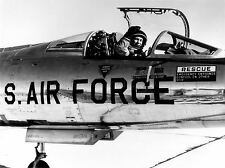 MILITARY AIR PLANE FIGHTER BLACK WHITE CHUCK YEAGER NF-104 POSTER PRINT BB963A