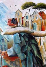 Malereien mit Öl-Technik und Surrealismus-Kunststil