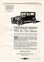 1922 ORIGINAL VINTAGE CAR MAGAZINE AD