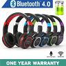 Kabellos Bluetooth Kopfhörer Faltbar Stereo Headset über Ohr mit Mikrofon Fm