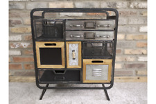 Industrial 8 Drawer Vintage Style Funky Quirky Cabinet Storage Unit Originality