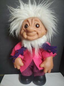 "Vintage DAM Troll Doll 1984 Original Clothes Grandpa 12"" Denmark D.A.M. GIANT !!"