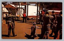 Dallas Fort Worth Texas Yankee Spy Firing Squad Six Flags Postcard 1960s