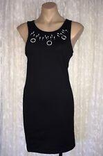 FAIRGROUND SIZE M BLACK BEADED STRETCH DRESS NWOT