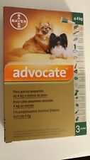 ADVOCATE Antiparasitaires Spot On chiens / dogs S M L XL - 3 Pipettes poux/puces