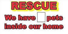 Rescue Sticker Pet Sticker 1st First Aid Fire Safety Window Door Decal 911