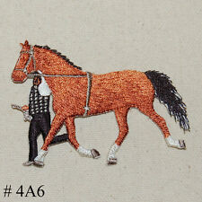 1PC~BEAUTIFUL LIGHT BROWN  HORSE~IRON ON EMBROIDERED APPLIQUE