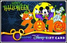 DISNEY MAGIC KINGDOM 2010 HALLOWEEN PARTY NIGHT PUMPKIN COLLECTIBLE GIFT CARD