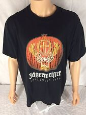 Vtg Jagermeister Halloween 1999 T-Shirt XL Black Glow In The Night Dark Jager