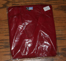 NEW Red School Uniform Button up Sweater Cardigan Size Adult L