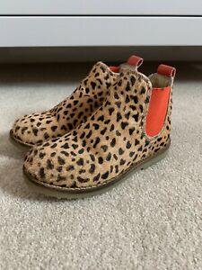 Mini Boden Girls Leopard Print Chelsea Boots Size 8 Infant 25EU