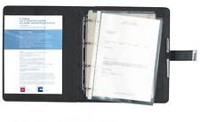 Dokumentenmappe A4 mit Schloss Corello Kunstleder schwarz, von FIHA-Promotion