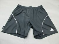 ADIDAS SIZE L WOMENS BLACK ATHLETIC GYM FITNESS RUNNING TRACK SHORTS 292