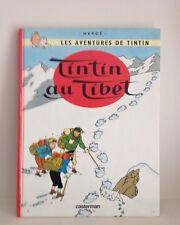 Livre bande dessinée Les aventures de TinTin au Tibet Casterman Hergé