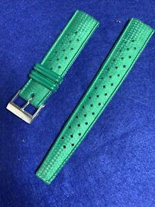 Vintage NOS Skin Diver Tropic Strap 19MM Green Steel Buckle Band