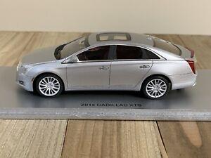 Rare! 1/43 Luxury Collectibles 2014 Cadillac XTS Resin Model Silver US Seller