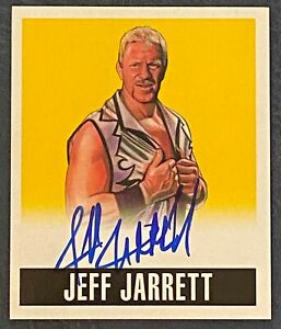 2014 Leaf Originals Wrestling JEFF JARRETT #JJ1 Yellow Autograph SP #59/99