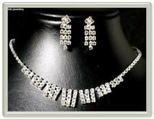 Rhinestone White Gold Fashion Jewellery Sets