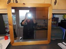 Vintage Square pine frame mirror 59x59cm