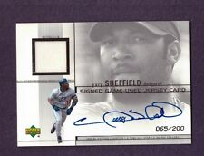 2001 Upper Deck GARY SHEFFIELD Game Used Patch Autograph /200 Insert
