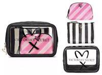 VICTORIAS SECRET 3 in 1 BEAUTY BAG SET CLEAR COSMETIC TRIO MAKEUP TRAIN CASE