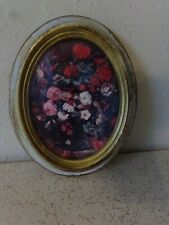 Vintage Oval Picture Frame Norleans Floral Made in Italy