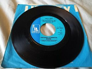 """Creedence Clearwater Revival Proud Mary - Born On The Bayou 7"""" Vinyl - FAIR"""