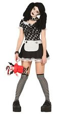 Ladies Sexy Dead Rag Doll Halloween Fancy Dress Costume Outfit UK 14-16-18