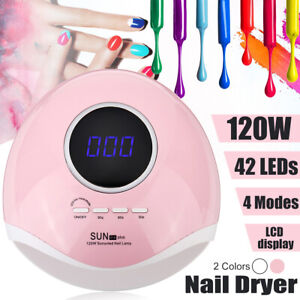 120W SUN LED UV Lamp Nail Dryer for Gels Polish Cure Manicure Pedicur